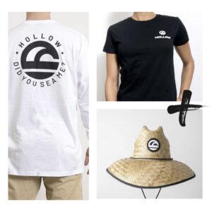 Starter kit: playera manga corta, playera manga larga y sombrero de paja de la marca hollow